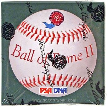 2013 Historic Autograph Ball Of Fame Baseball Hobby Box