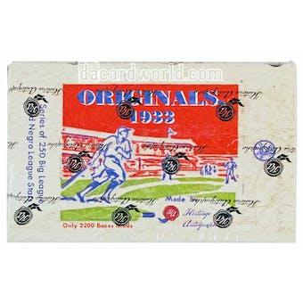 2013 Historic Autograph Originals 1933 Baseball Hobby Box
