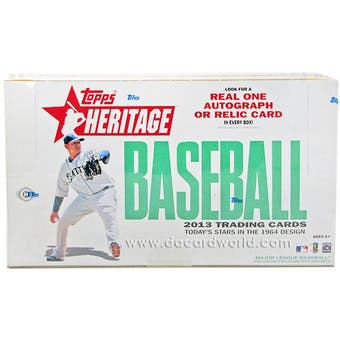2013 Topps Heritage Baseball Hobby Box (Reed Buy)