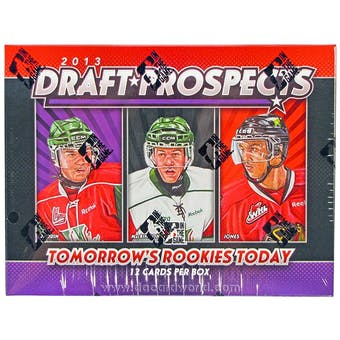 2013 In The Game Draft Prospects Hockey Hobby Box