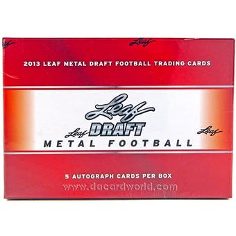 2013 Leaf Metal Draft Football Hobby Box