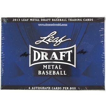 2013 Leaf Metal Draft Baseball Hobby Box