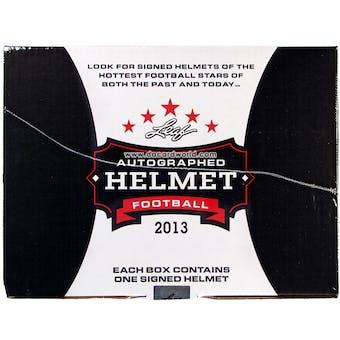2013 Leaf Autographed Full-Sized Helmet Football Hobby Box