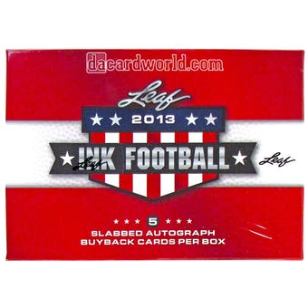 2013 Leaf Ink Football Hobby Box