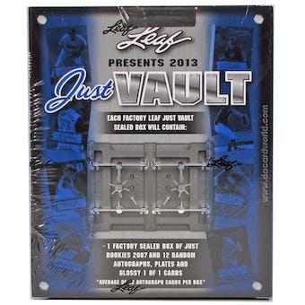 2013 Leaf Just Vault Baseball Hobby Box