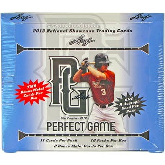 2013 Leaf Perfect Game Showcase Baseball Hobby Box