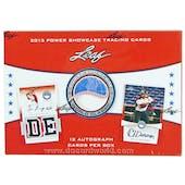 2013 Leaf Power Showcase Baseball Hobby Box