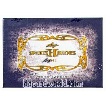 2013 Leaf Sports Heroes Hobby Box