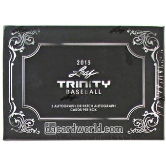 2013 Leaf Trinity Baseball Hobby Box