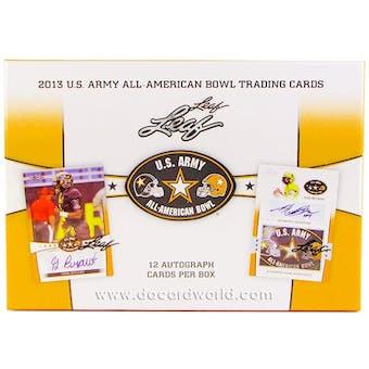 2013 Leaf U.S. Army All American Bowl Football Hobby Box