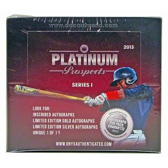 2013 Onyx Platinum Prospects Baseball Hobby Box