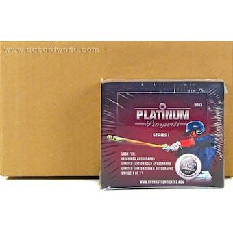 2013 Onyx Platinum Prospects Baseball Hobby 6-Box Case