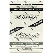 2012/13 Panini Prestige Basketball Rack Pack Box