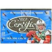 2013 Panini Certified Football Hobby Box