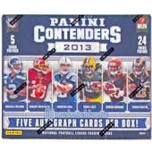 2013 Panini Contenders Football Hobby Box