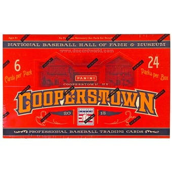 2013 Panini Cooperstown Baseball Hobby Box