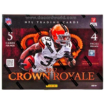 2012 Panini Crown Royale Football Hobby Box