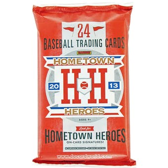 2013 Panini Hometown Heroes Baseball Hobby Pack (Lot of 12)