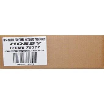 2013 Panini National Treasures Football Hobby 4-Box Case