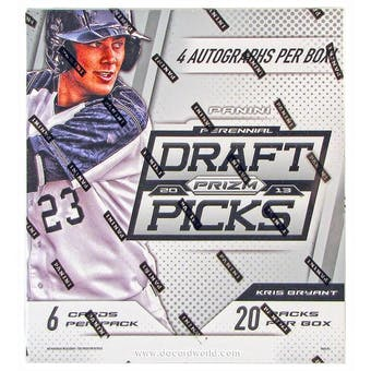 2013 Panini Prizm Perennial Draft Picks Baseball Hobby Box