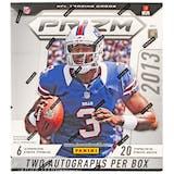 2013 Panini Prizm Football Hobby Box