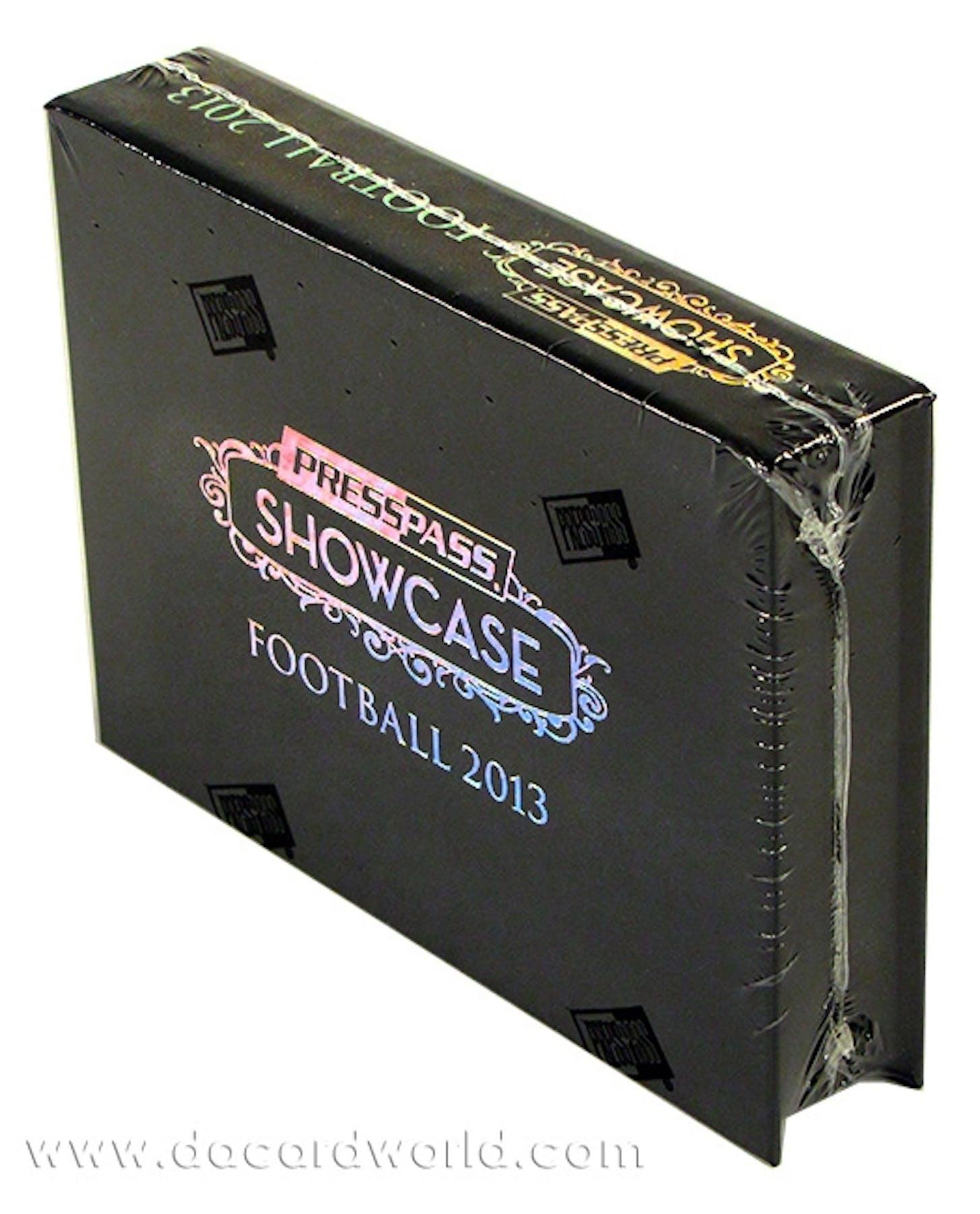 2013 Press Pass Showcase Football Hobby Box