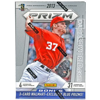 2013 Panini Prizm Baseball 7-Pack Box (Contains 3-Card Pack of Blue Prizms)!