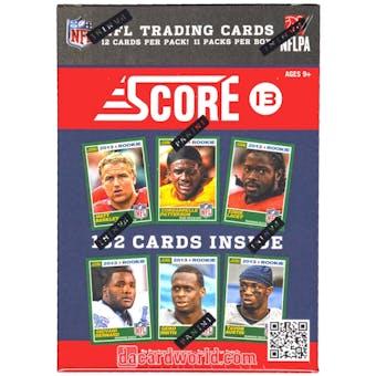 2013 Score Football 11-Pack Box
