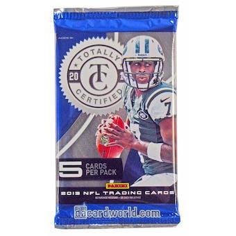 2013 Panini Totally Certified Football Hobby Pack
