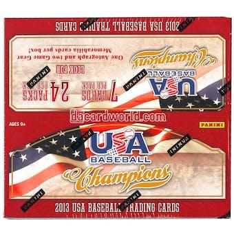 2013 Panini USA Champions Baseball Retail 24 Pack Box (1 Autograph & 2 Game Gear Memorabilia Cards Per Box)!