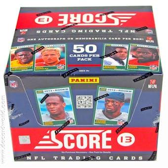 2013 Score Football Jumbo Box