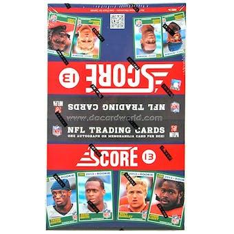 2013 Score Football 36-Pack Box (One Autograph or Memorabilia Card Per Box)!
