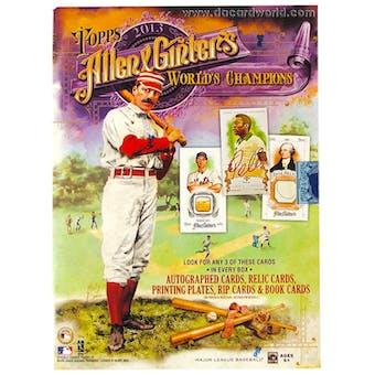 2013 Topps Allen & Ginter Baseball Hobby Box