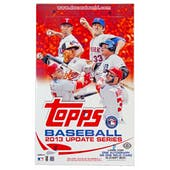 2013 Topps Update Baseball Hobby Box