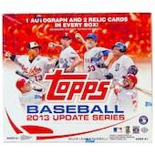 2013 Topps Update Baseball Jumbo Box