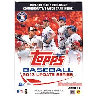 2013 Topps Update Baseball 10-Pack Box - ONE PATCH CARD PER BOX !