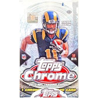 2013 Topps Chrome Football Hobby Box