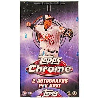 2013 Topps Chrome Baseball Hobby Box