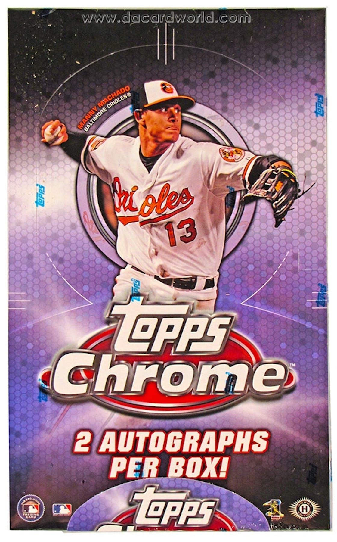 2013 Topps Chrome Baseball Hobby Box Da Card World