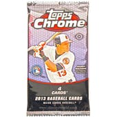 2013 Topps Chrome Baseball Hobby Pack