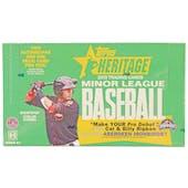 2013 Topps Heritage Minor League Baseball Hobby Box (Reed Buy)