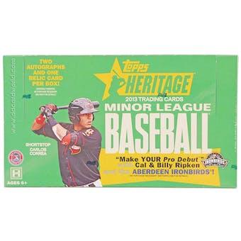 2013 Topps Heritage Minor League Baseball Hobby Box