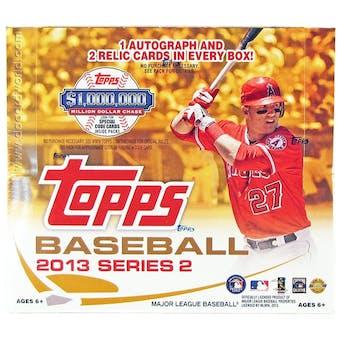 2013 Topps Series 2 Baseball Jumbo Box