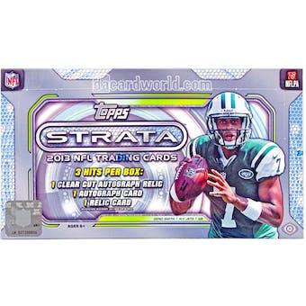2013 Topps Strata Football Hobby Box
