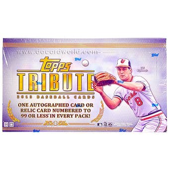 2013 Topps Tribute Baseball Hobby Box