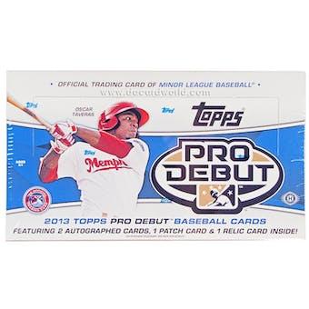 2013 Topps Pro Debut Baseball Hobby Box