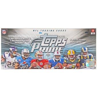 2013 Topps Prime Football Hobby Box