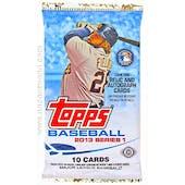 2013 Topps Series 1 Baseball Hobby Pack