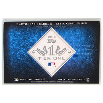 2013 Topps Tier One Baseball Hobby Box