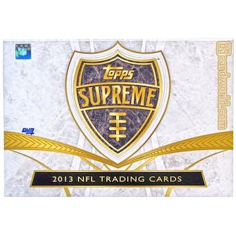 2013 Topps Supreme Football Hobby Box